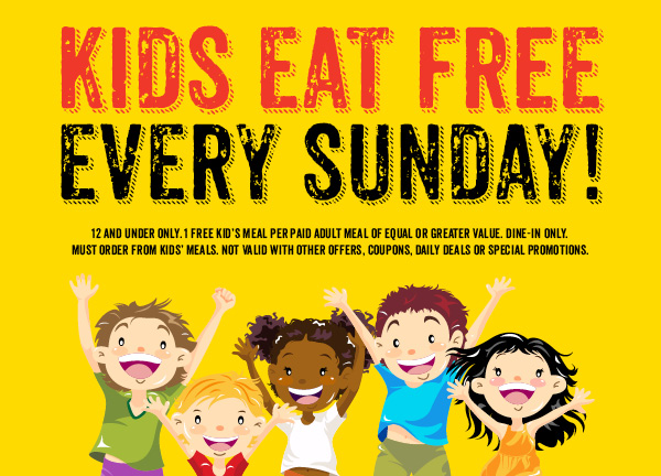 Kids eat free at Dickeys BBQ